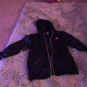 North face leather jacket